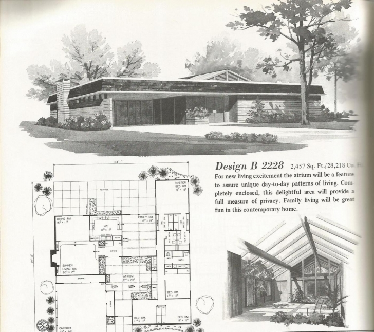 Outstanding Mid Century Modern House Plans Pics Vintage 1960S Small Home 9 Mid Century Modern House Plans Picture