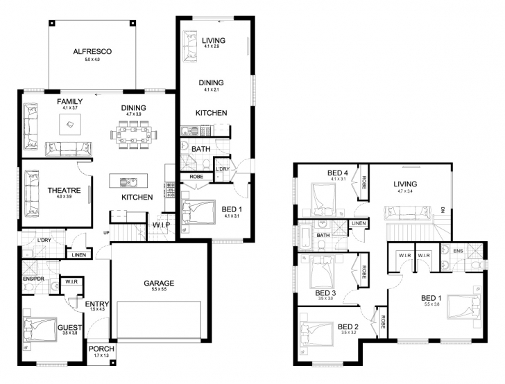 Outstanding New Home Builders | Evoque Dual 37 - Dual-Living Storey Home Designs Dual Living Floor Plans Image