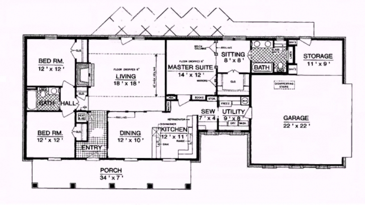 Outstanding Ranch Style House Plans 1800 Square Feet - Youtube Ranch Style House Plans Pic