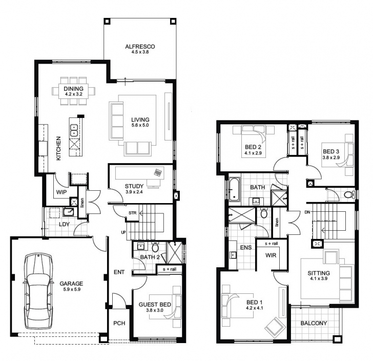 Picture of 12M Wide House Designs Perth | Single And Double Storey | Apg Homes Two Story House Plans Pic
