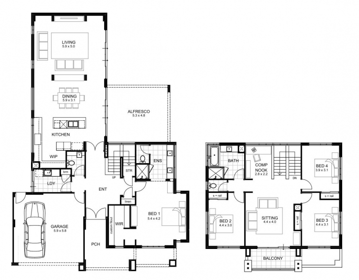 Picture of 18M Wide House Designs Perth | Single And Double Storey | Apg Homes House Plans For A View Picture