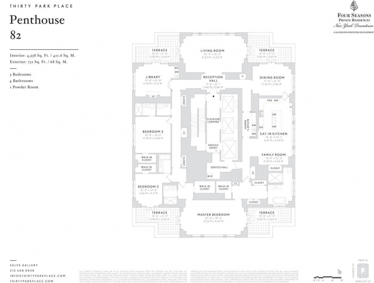 Picture of 8 Bonkers Penthouse Floorplans For 30 Park Place, Revealed! - Curbed Ny Four Seasons Park Floor Plan Pic