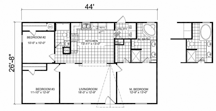 Picture of Awesome Double Wide Mobile Home Floor Plans - Modern Home Decoration Double Wide Mobile Home Floor Plans Image