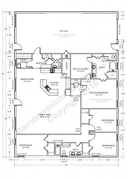 Picture of Beast Metal Building: Barndominium Floor Plans And Design Ideas For Pole Barn House Plans With Loft Pic