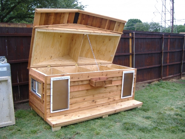 Picture of Dog House For Two | Custom Large Heated Insulated Dog House With Insulated Dog House Plans Pic