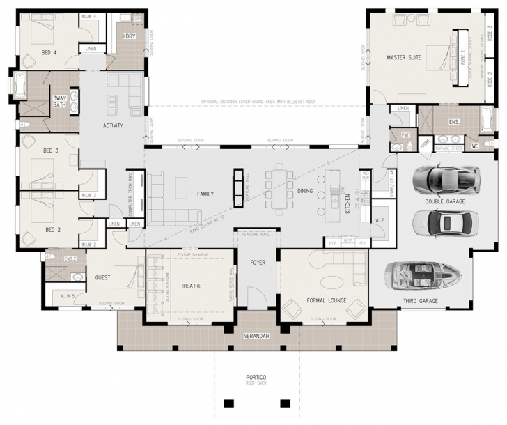 Picture of Floor Plan Friday: U-Shaped 5 Bedroom Family Home | Hamby Retirement U Shaped House Plans Picture