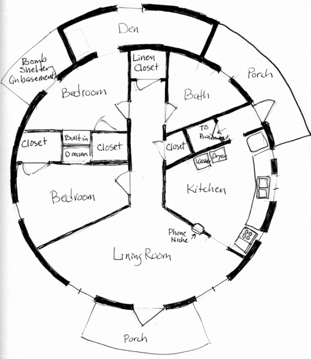 Picture of House Designs And Floor Plans Unique Buckminster Fuller Dymaxion Round House Plans Image