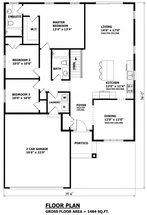 Picture of House Plans Canada - Stock Custom Bungalow House Plans Pic