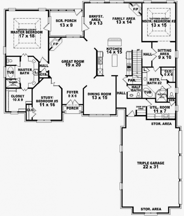Picture of House Plans With Two Master Suites On First Floor Lovely 4 Bedroom 3 House Plans With Two Master Suites On First Floor Photo