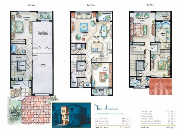 Picture of Narrow Lot 3 Story House Plans Plan Home Brilliant | Htrblogs Three Story House Plans Pic