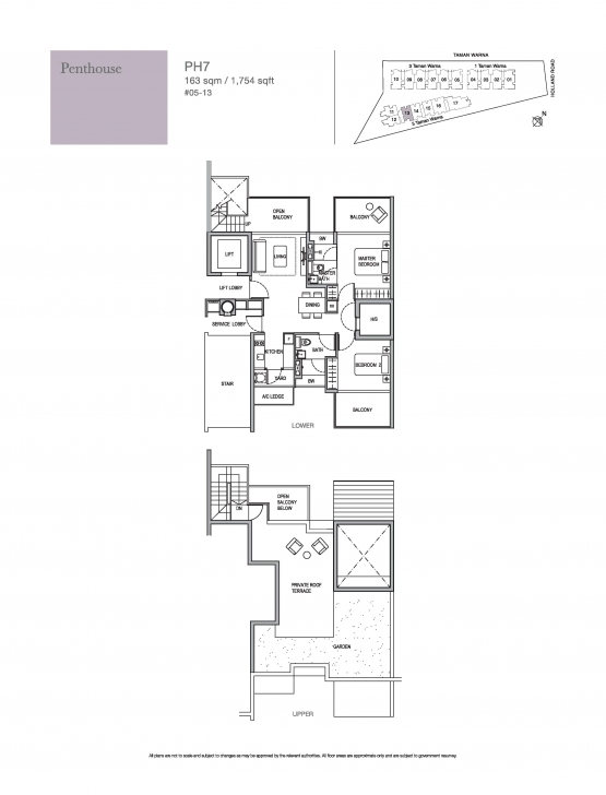 Picture of Penthouse-2 Bed - Holland Residences Holland Residences Floor Plan Image