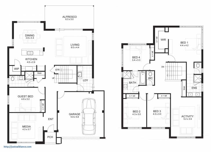 Picture of Simple 6 Bedroom House Plans Awesome 4 Bedroom Two Storey House Two Story House Plans Picture