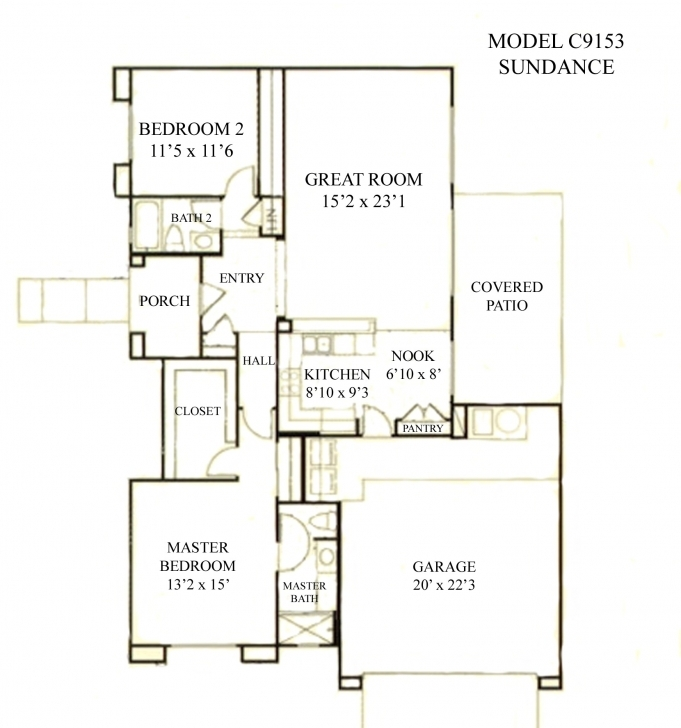 Picture of Sun City Grand Sundance Floor Plan, Del Webb Sun City Grand Floor Sun City Floor Plans Pic