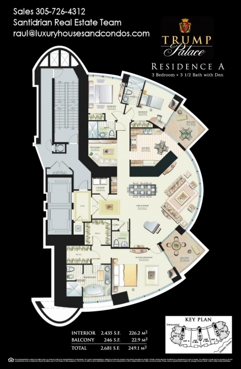 Picture of Trump Palace Floor Plans | Trump Towers Condos In Sunny Isles Trump Palace Floor Plans Photo
