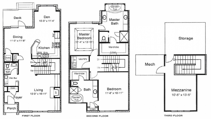 Popular 3 Story Home Floor Plans 3 Bedroom House Plans, 3 Story … 3 Story House Plans Photo