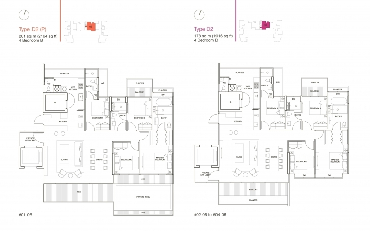 Popular 4 Bedroom - Ola Residences Ola Residences Floor Plan Pic