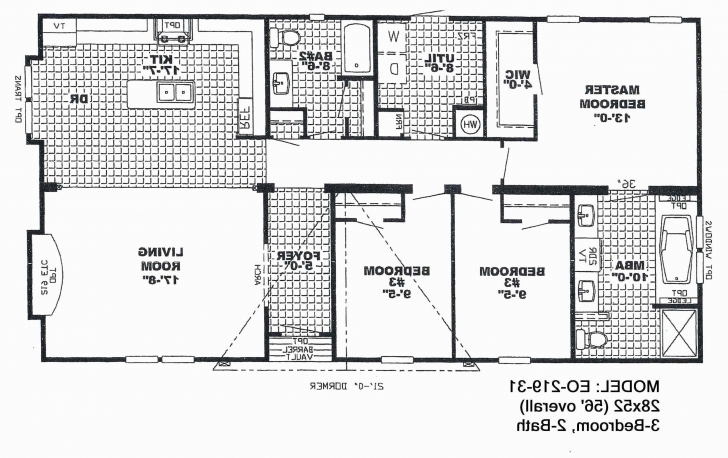 Popular 43 Inspirational 3 Bedroom Single Wide Mobile Home Floor Plans Trailer Floor Plans Single Wides Picture