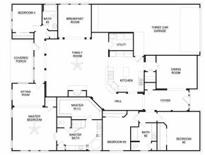 6 Bedroom House Plans One Story : 6 Bedroom House Plans. 6 Bedroom ...
