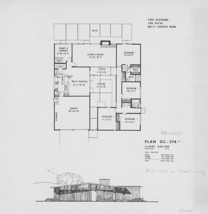 Popular Eichler Floor Plans-Fairhills - Eichlersocaleichlersocal Eichler Floor Plans Image