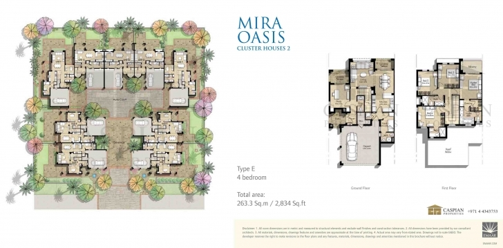 Popular Reem Mira Oasis Floor Plans Cluster House Floor Plan Image