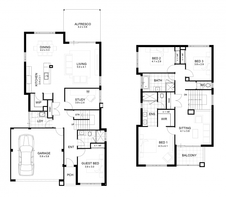 Popular Small Two Story Floor Plans Lovely Simple Two Story House Plan Small Simple House Plans Pic