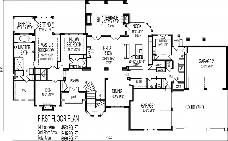 Remarkable 6 Bedroom 7 Bathroom Dream Home Plans Indianapolis Ft Wayne Large House Plans Picture
