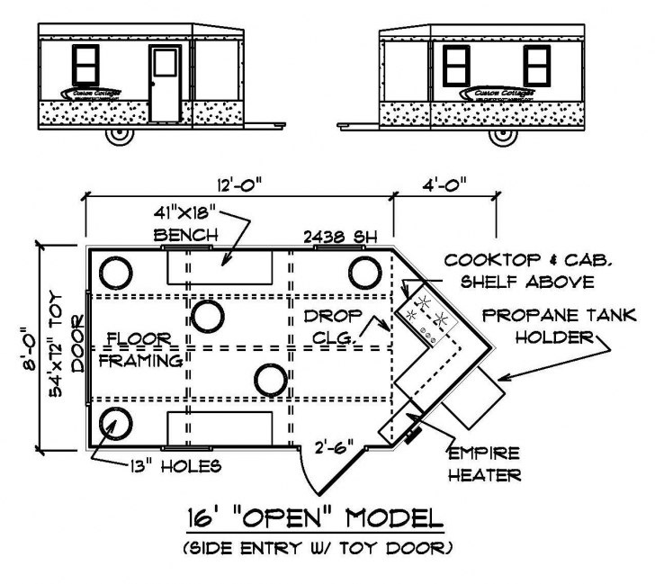 Remarkable Custom Cottages Inc. - Mobile Shelter Design For Ice Fishing Ice House Plans Image
