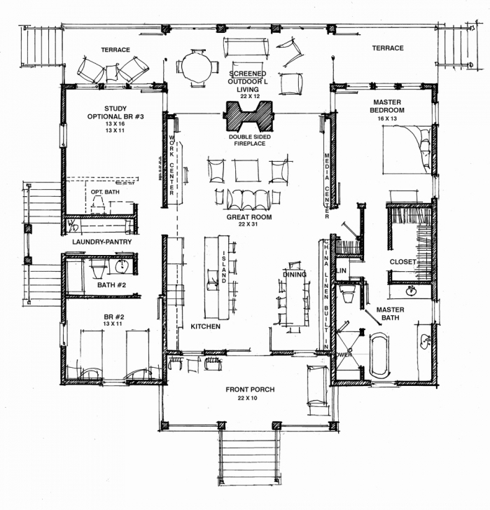 Remarkable Dogtrot House Floor Plan With Modern Best Of Dog Trot Plans House Dogtrot House Plans Pic