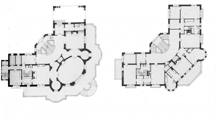 Remarkable Pittock Mansion Main And Second Floor Plans | Historic House Plans Pittock Mansion Floor Plan Pic