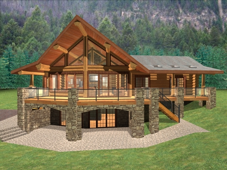 Remarkable Ranch Log Cabin Floor Plans Log Home Ranch Floor Plans Pic