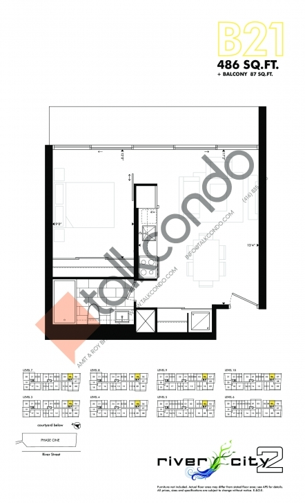 Remarkable River City Phase 2 Condos - Talkcondo River City Floor Plans Image
