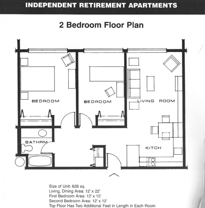 Remarkable Small 2 Bedroom Apartment Plans | Apartment Floor Plans 2 Bedroom 2 Bedroom Apartment Floor Plans Pic