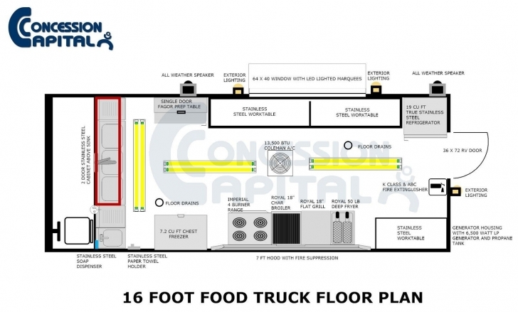 Splendid 18 Foot Food Truck Floor Plan | Food Trucks | Pinterest | Food Truck Food Truck Floor Plans Photo