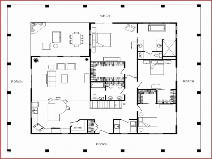 Splendid 2200 Sq Ft House Plans Luxury Single Story Farmhouse With Wrap 2200 Sq Ft House Plans Photo
