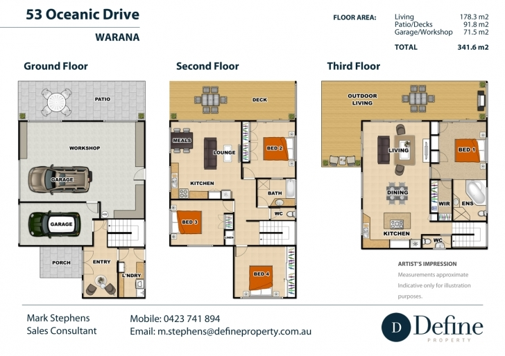 Splendid 3 Story Real Estate Floor Plan Three Story House Plans Picture