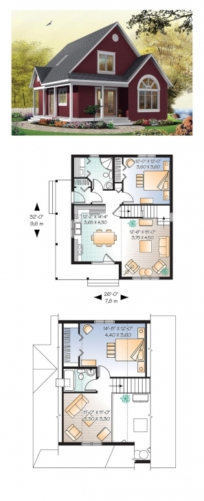 Splendid Cottage House Plan Chp-28554 | Small Or Tiny House? | Pinterest Little House Plans Picture