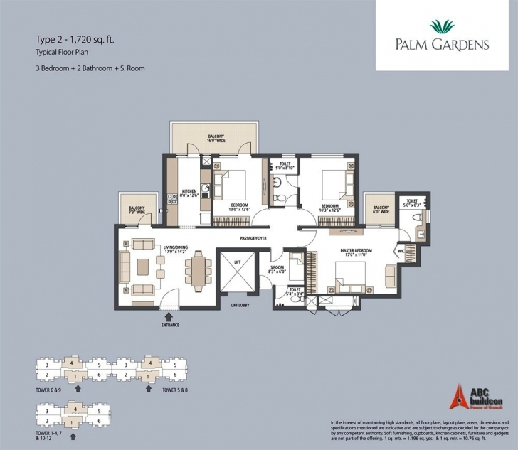 Splendid Emaar Mgf Palm Gardens Floor Plan - Floorplan.in The Gardens Floor Plan Image