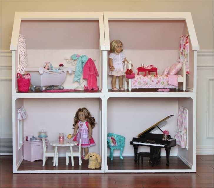 Splendid Free Plans For Building A Barbie Doll House American Girl Doll House American Girl Doll House Plans Pic