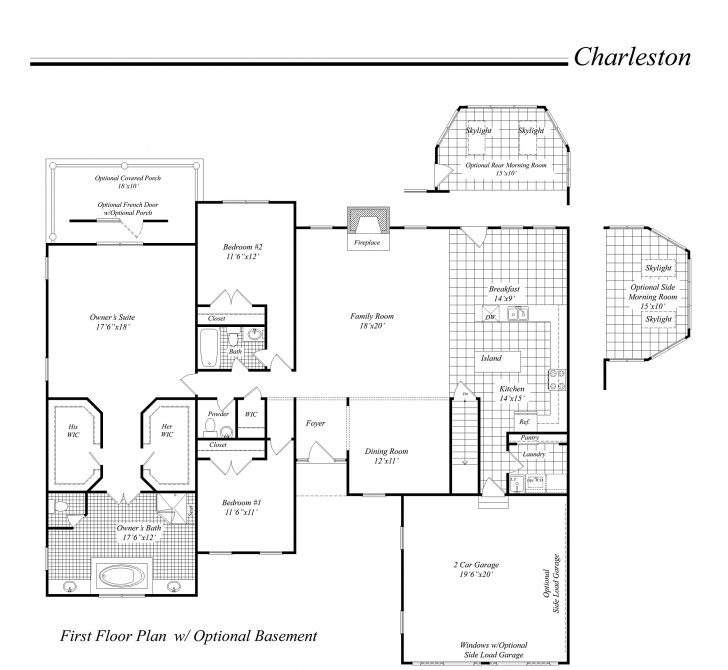 Splendid House Illustration - Home Rendering - Classic Homes Floor Plan Classic Home Floor Plans Picture