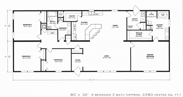 Splendid Single Wide Mobile Homes Floor Plans Fresh 3 Bedroom Single Wide Single Mobile Home Floor Plans Image