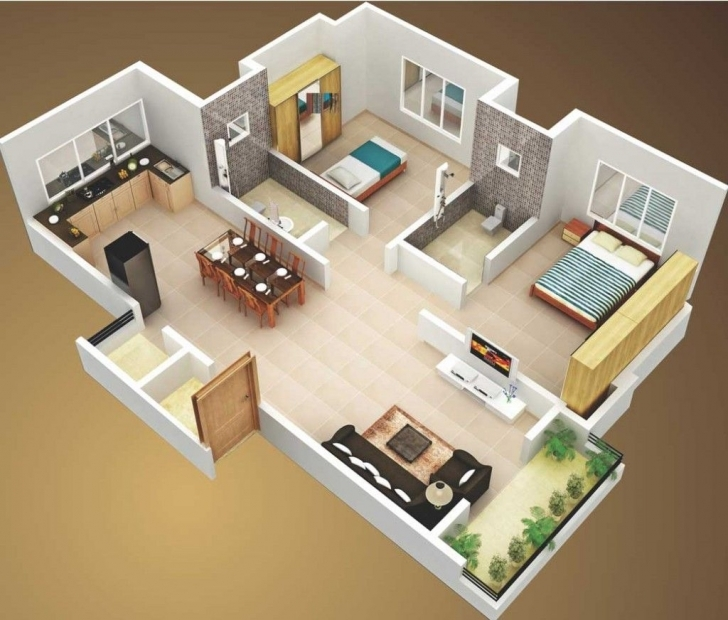 Splendid Unique 2 Bedroom House Plans — House Design Ideas 2 Bedroom House Plans Image