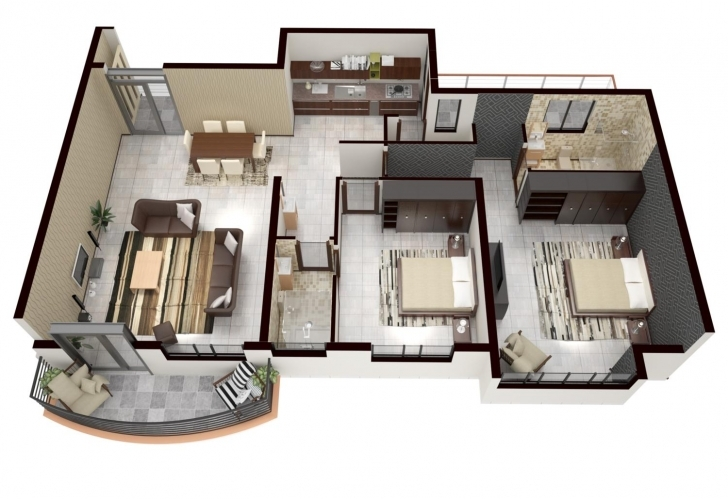 Stunning 3D Floor Plan Rendering By Gesora On Envato Studio Rendered Floor Plan Photo