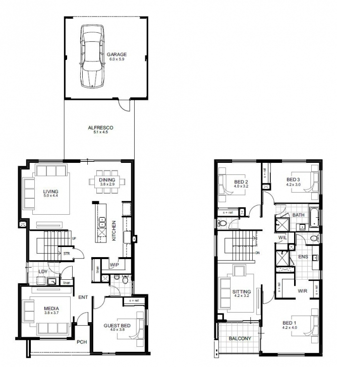 Stunning 4 Bedroom House Designs Perth | Single And Double Storey | Apg Homes 4 Bedroom 2 Bath House Plans Picture