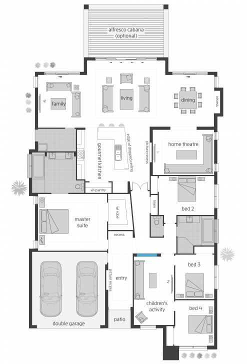 Stunning Beach House - Floorplans | Mcdonald Jones Homes Homes Floor Plans Image