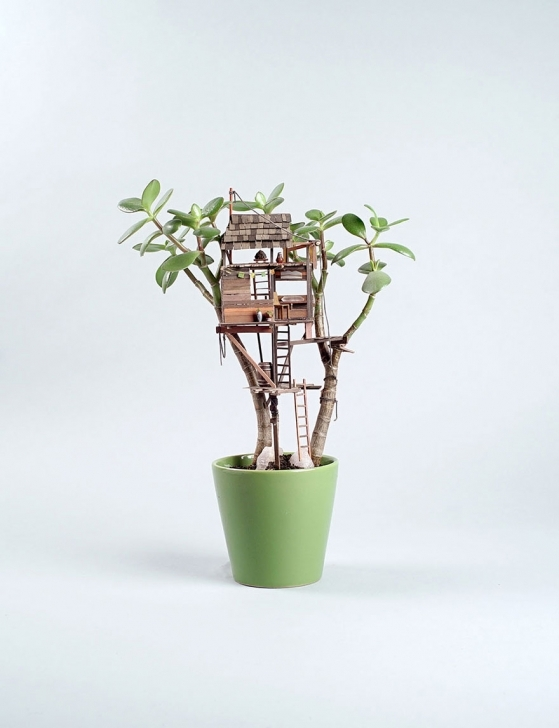 Stunning Miniature Tree Houses For Houseplants Are Just Perfect For Fairies Small House Plants Pic