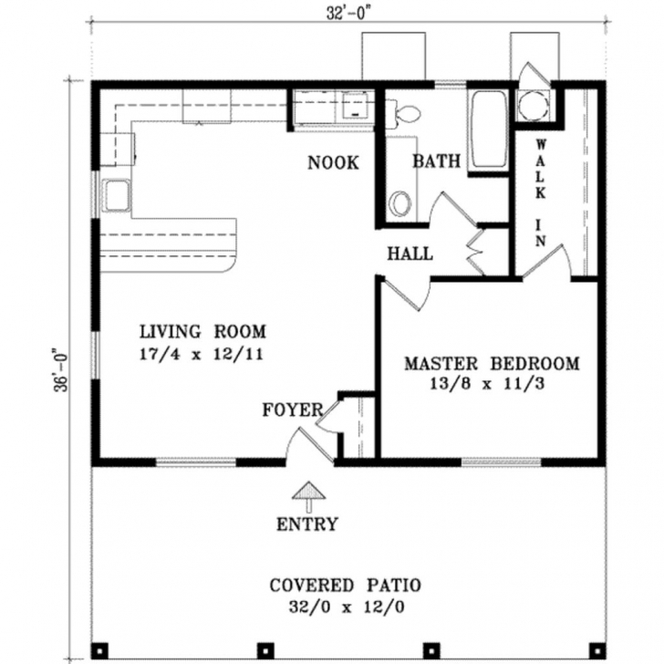 Stunning One Bedroom House Plan. When The Kids Leave? I Would Screen In The 1 Bedroom House Plans Photo