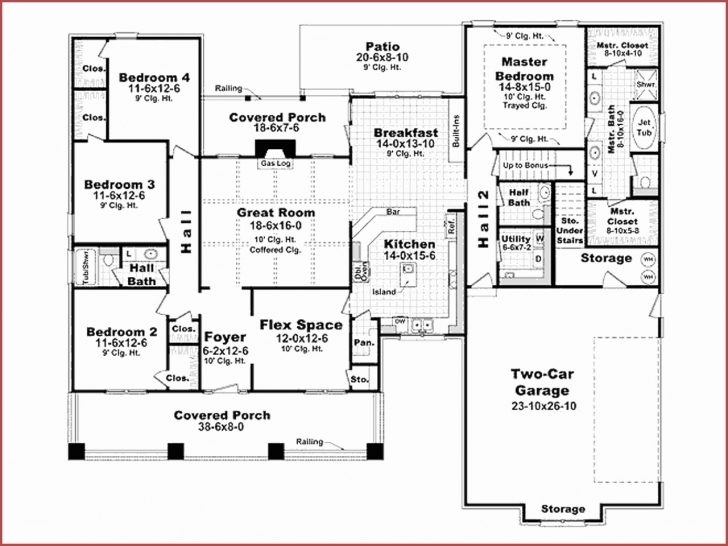 Stunning Single Level House Plans Under 2000 Sq Ft Unique Beautiful E Story 2000 Square Foot House Plans Picture