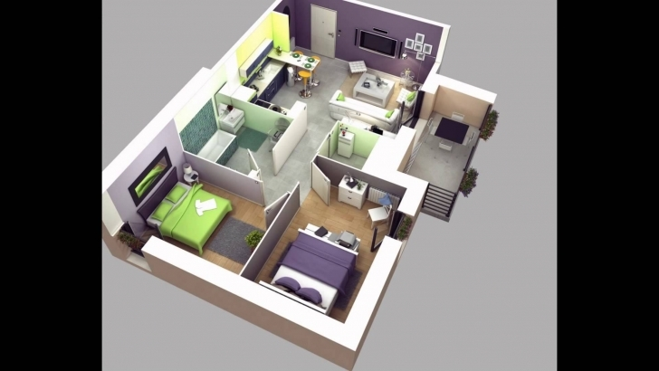 Stunning Two Bedroom House Plans - Youtube Two Bedroom House Plans Image