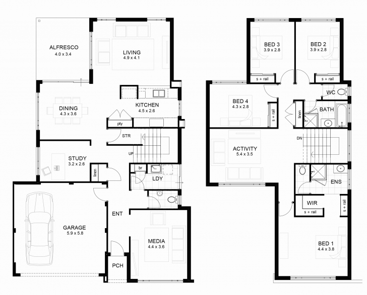 Stunning Two Story House Floor Plans New Contemporary Two Story Home Floor 2 Story House Plans Picture