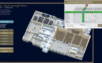 Stunning Vfloorplan Developed For Iconic Grand Connaught Rooms | Vfloorplan Grand Connaught Rooms Floor Plan Picture